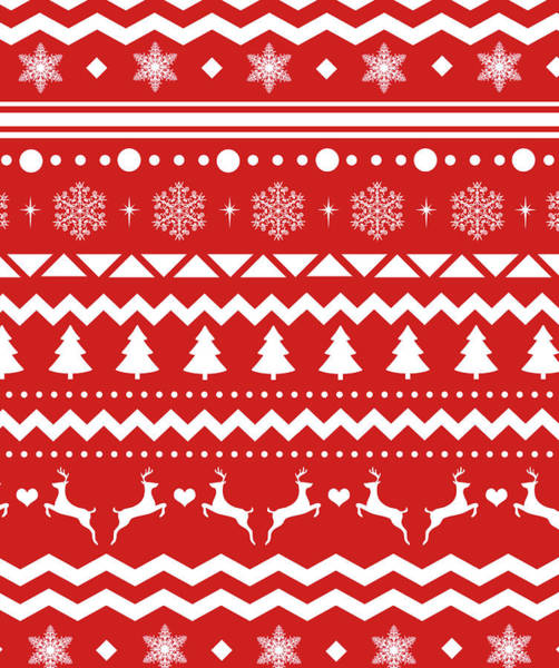 Ugly Painting - Christmas Pattern by Anna Quach