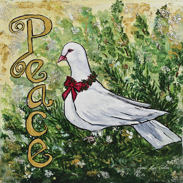 Painting - Christmas Peace Dove by Janis Lee Colon