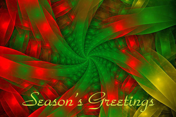 Digital Art - Christmas Ribbons by Sandy Keeton