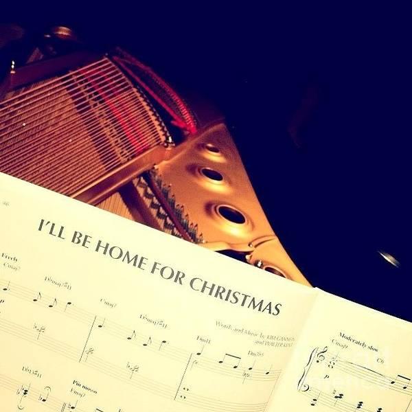 Carol Singing Photograph - Christmas by Sara Graham