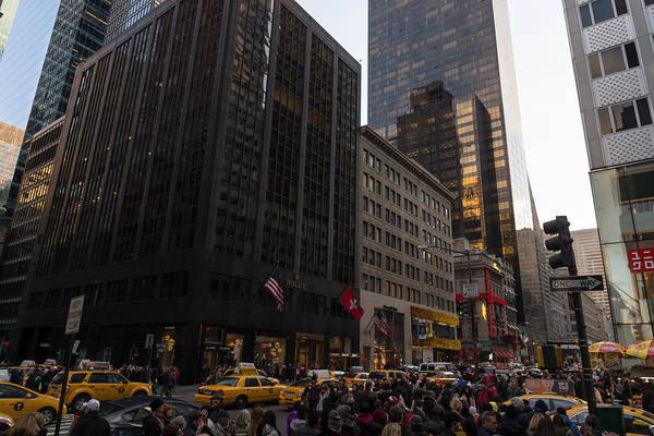 Photograph - Christmas Shopping On The World Famous Fifth Avenue by Georgia Mizuleva