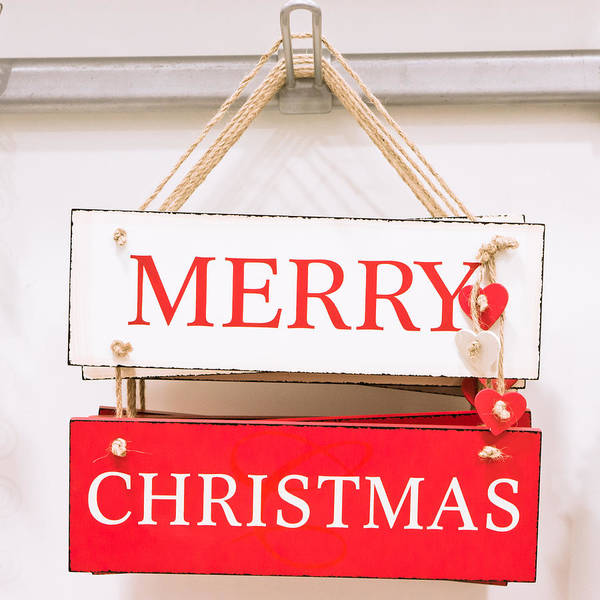 Cheer Photograph - Christmas Sign by Tom Gowanlock
