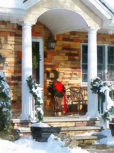 Photograph - Christmas Sled On Porch by Susan Savad