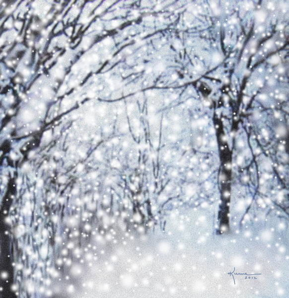 Ice Plant Digital Art - Christmas Snow by Kume Bryant
