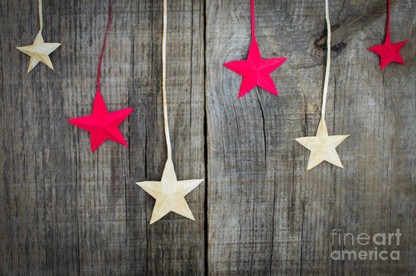 Gift Wrap Photograph - Christmas Star Decoration by Aged Pixel