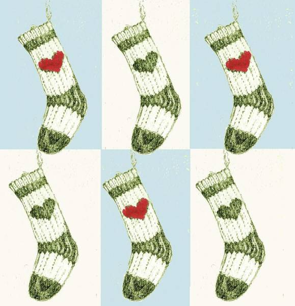 Merry Christmas Painting - Christmas Stocking by Anna Platts