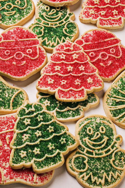 Tree Face Photograph - Christmas Sugar Cookies by Garry Gay