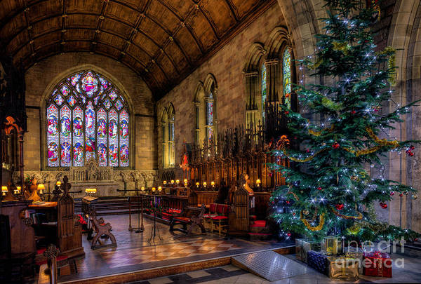 Cathedral Photograph - Christmas Time by Adrian Evans
