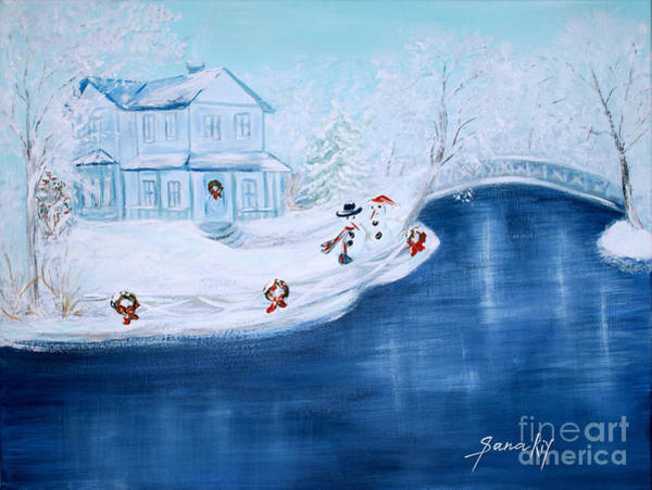 Painting - Christmas Time by Oksana Semenchenko