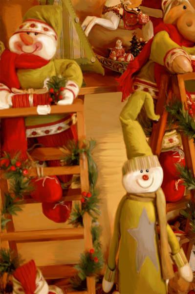 Dummy Digital Art - Christmas Toys by Gina Dsgn