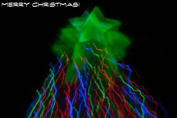 Photograph - Christmas Tree Abstract by Tam Ryan
