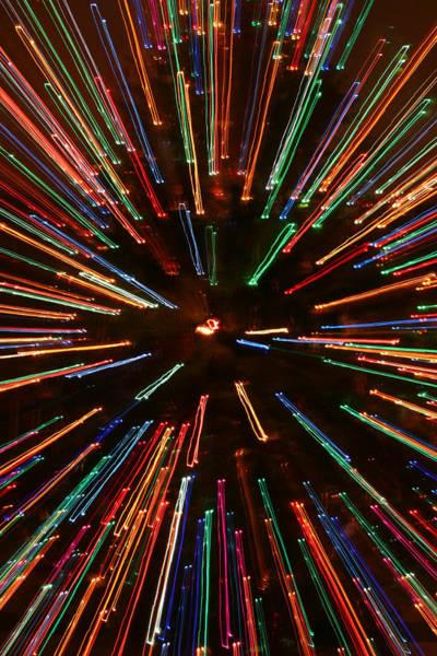 Photograph - Christmas Tree At Warp Speed II by Rick Locke