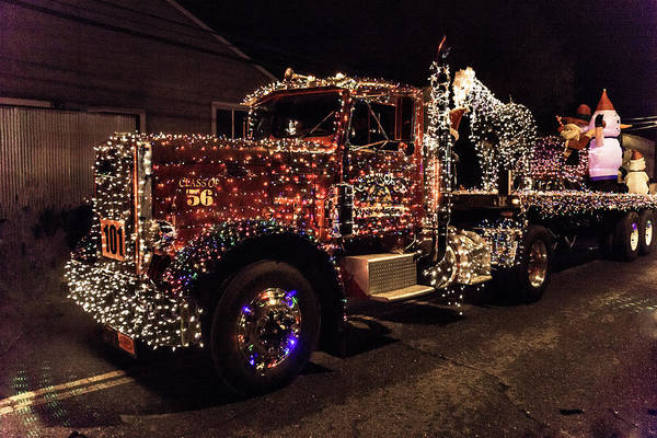 Christmas Lights Photograph - Christmas Truck by Garry Gay