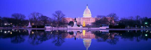 Legislature Photograph - Christmas, Us Capitol, Washington Dc by Panoramic Images