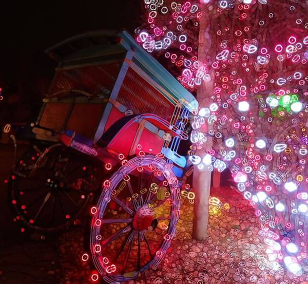 Photograph - Christmas Wagon Decorations by Dan Sproul