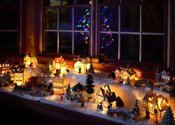 Photograph - Christmas Winter Village by Clint Buhler