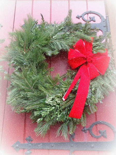 Harrisburg Pa Photograph - Christmas Wreath by Joseph Skompski