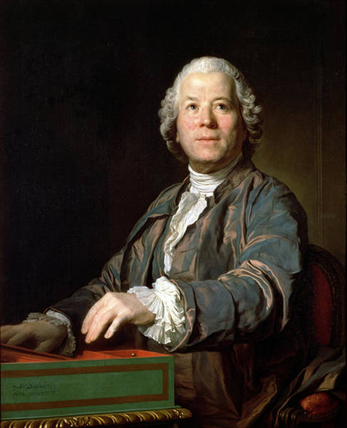 Composer Photograph - Christoph Willibald Gluck 1714-87 At The Spinet, 1775 Oil On Canvas by Joseph Siffred Duplessis