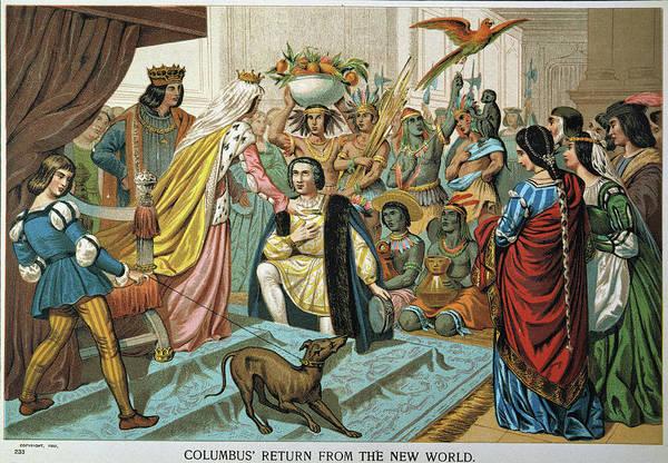 Leash Painting - Christopher Columbus Columbus Returns by Granger