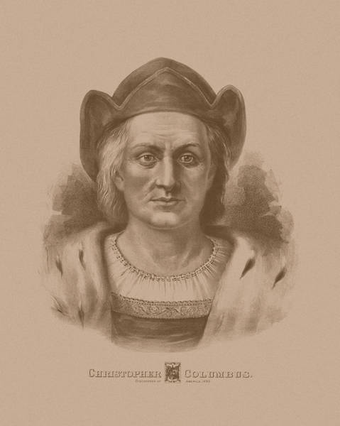 Historian Drawing - Christopher Columbus by War Is Hell Store