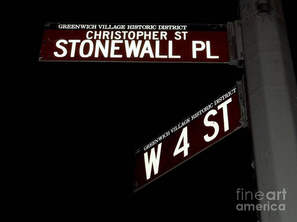 Wall Art - Photograph - Christopher St-stonewall Pl by Ed Weidman