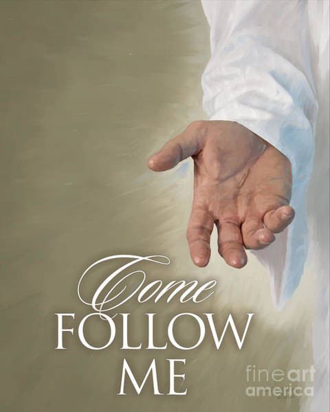 Follow Me Painting - Christ's Hand by Rob Corsetti