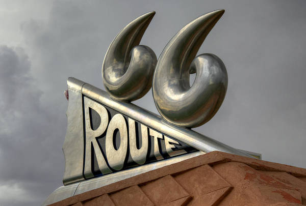 Historic Route 66 Photograph - Chrome 66 by Ricky Barnard