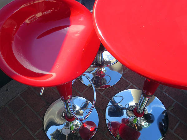 Photograph - Chrome And Red by Rick Locke