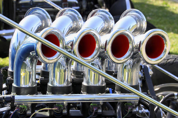 Photograph - Chromed Eight by Bob Slitzan