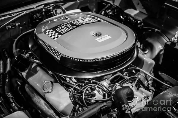 Compartments Photograph - Chrysler 440 Magnum Six Pack Motor by Paul Velgos