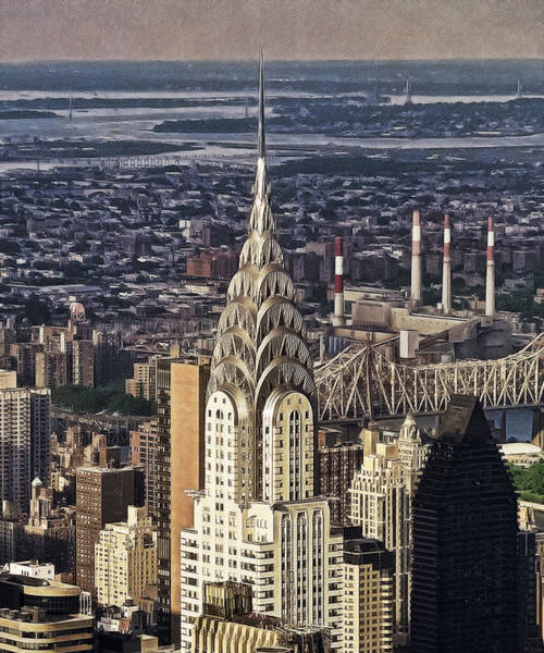 Photograph - Chrysler Building At Dusk by Wes and Dotty Weber