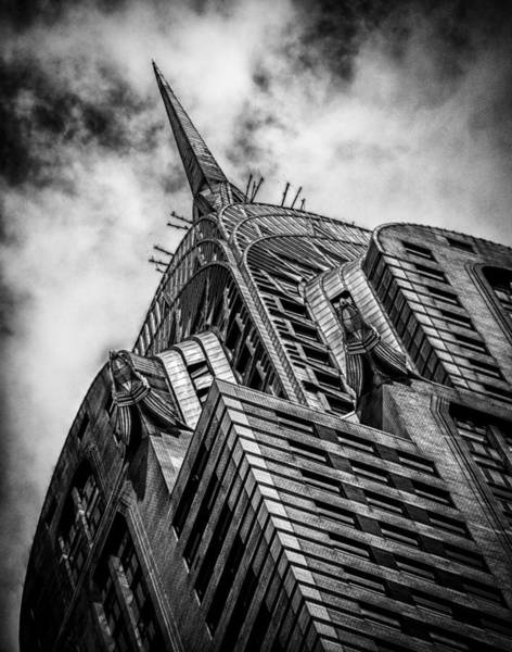 Photograph - Chrysler Building - Black And White by James Howe