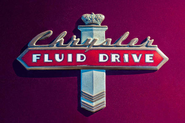 Photograph - Chrysler Fluid Drive Emblem by Jill Reger