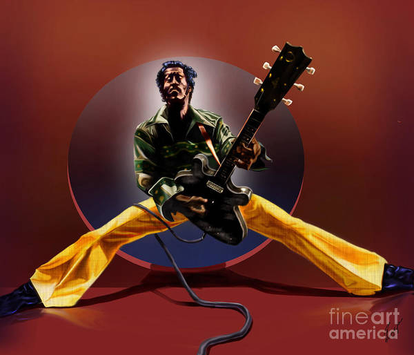 Entertainer Painting - Chuck Berry - This Is How We Do It by Reggie Duffie