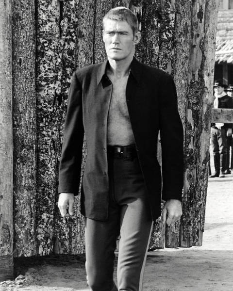 Brand Photograph - Chuck Connors In Branded  by Silver Screen