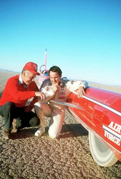 Barrett Photograph - Chuck Yeager And Stan Barrett by Us Air Force