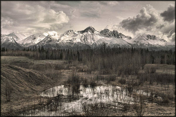 Chugach Mountain Range Art Print
