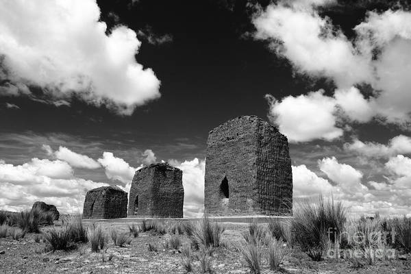 Photograph - Chulpas Or Funerary Towers by James Brunker