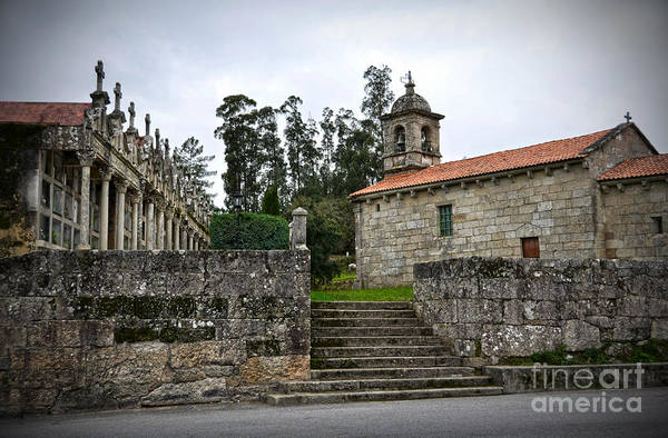 Galicia Photograph - Church And Cemetery In A Small Village In Galicia by RicardMN Photography