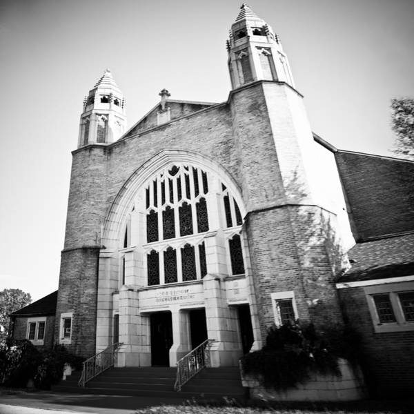 Photograph - Church Architecture Black And White by Maggy Marsh