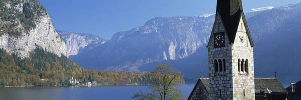 Protestant Photograph - Church At The Lakeside, Hallstatt by Panoramic Images