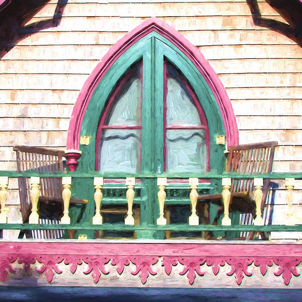 Camp Wall Art - Photograph - Church Camp House Detail Painterly Series 8 by Carol Leigh