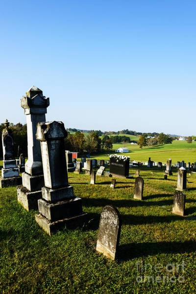 Wall Art - Photograph - Church Cemetery by Thomas R Fletcher