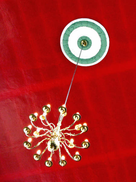 Photograph - Church Chandelier by Rick Locke