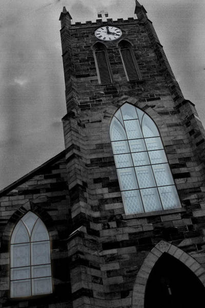 Photograph - Church Clock Tower by David Yocum