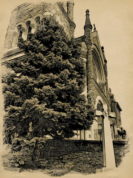 Photograph - Church Cross by Alice Gipson