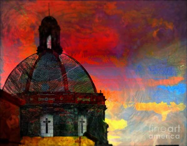 Photograph - Church Dome With Crosses by John  Kolenberg
