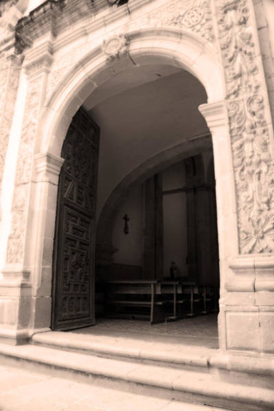 Zacatecas Photograph - Church Entrance - San Jose De Tayahua - Tayahua Zacatecas Mexico by Martin Alfaro