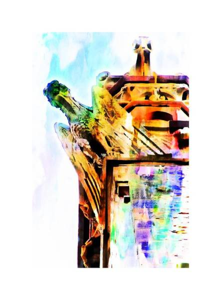 Photograph - Church Gryphon Artistic by Alice Gipson