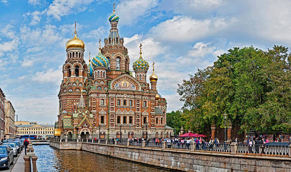 Onion Domes Photograph - Church In A City, Church Of The Savior by Panoramic Images